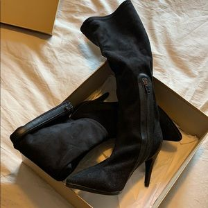 Browns Couture knee high booties